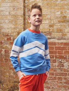 Chevron Sweatshirt - Marina Blue 3